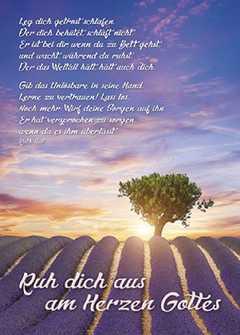 Postkarten: Ruh dich aus am Herzen Gottes, 12 Stück