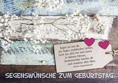 Postkarten: Segenswünsche zum Geburtstag, 4 Stück