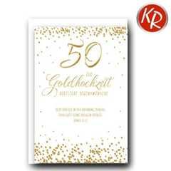 Faltkarte - Goldene Hochzeit Römer 12,12