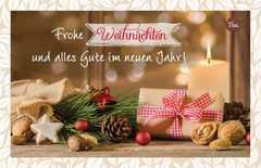 Teekarte - Frohe Weihnachten!