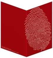 """Faltkarte """"Einzigartig, rot"""" - 5er Serie"""