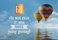 Zum 60. Geburtstag - Faltkarte