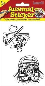 Ausmal-Sticker: Feuerwehr