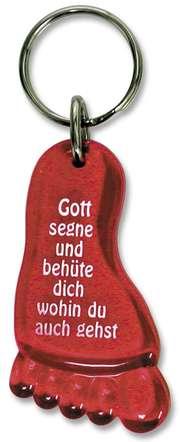 """Schlüsselanhänger """"Fuß"""" - rot"""