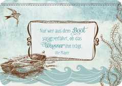 Nur wer aus dem Boot steigt - Postkarte